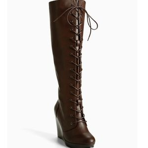 Torrid wedge/ platform over the knee boots